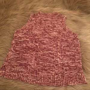 Cranberry Loft sweater tank